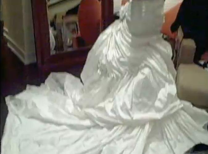 Le bas de la robe de mariée de Beyoncé