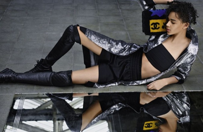 Binx Walton pour la collection Chanel automne-hiver 2014/2015