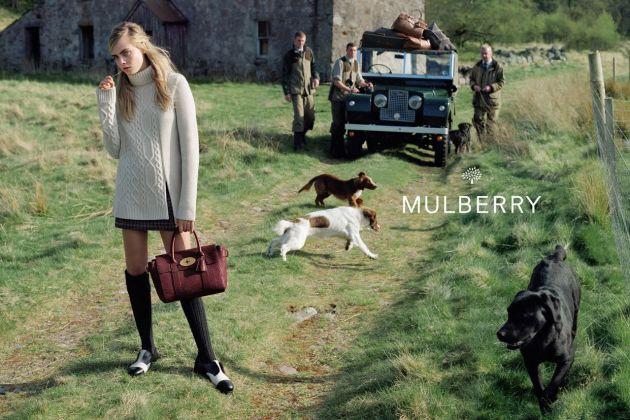 Mode : Cara Delevingne : perdue dans les Highlands écossais pour Mulberry !