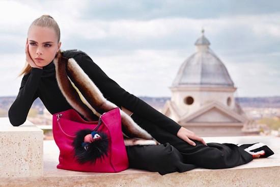 Mode : Cara Delevingne : une beauté divine et décalée pour Fendi !