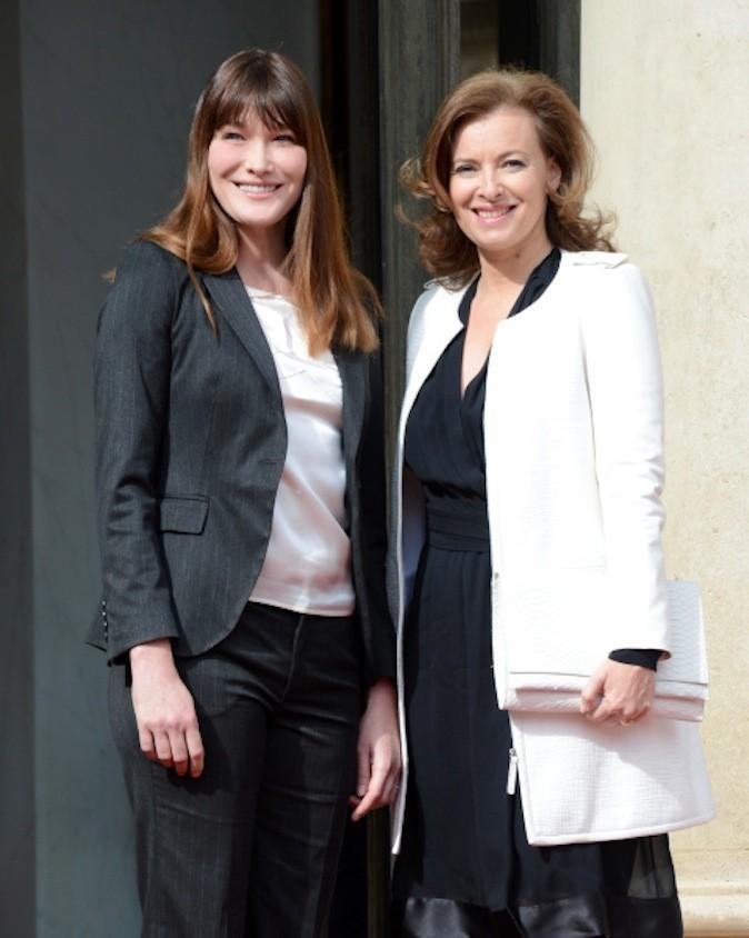 Carla Bruni Sarkozy et Valérie Trierweiler