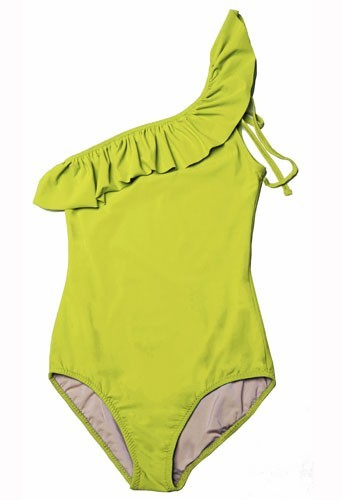 Maillot de bain Mouillé une-pièce jaune modèle Naomi : 125€