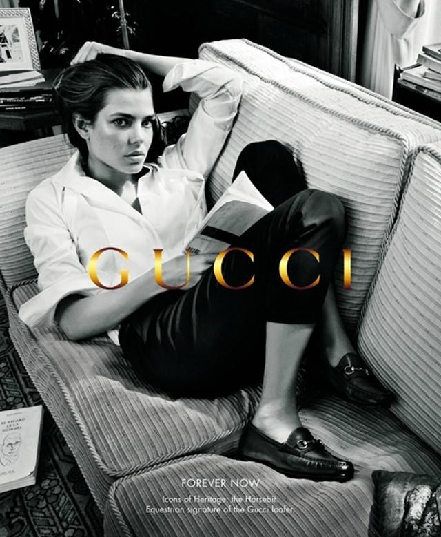Charlotte Casiraghi pour Forever Now de Gucci