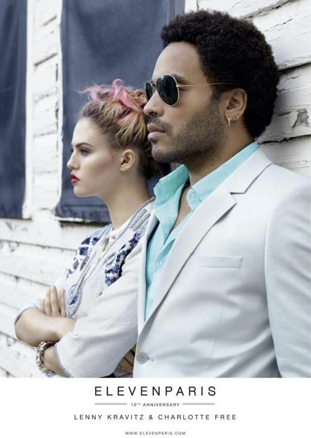 Mode: Charlotte Free et Lenny Kravitz en duo pour Eleven Paris !