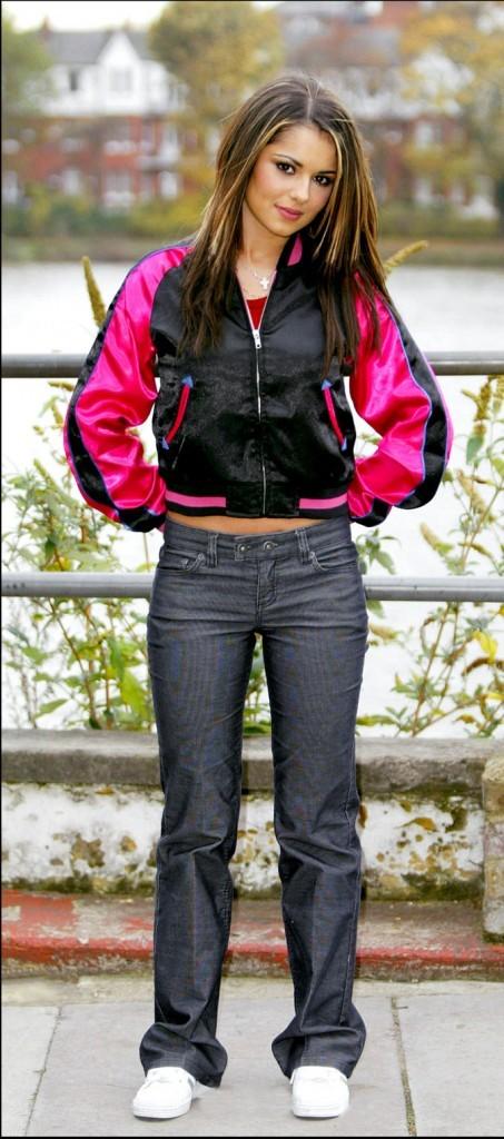 Cheryl Cole en 2003, un look sportswear pour les débuts de Girls Aloud