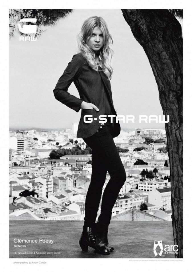 Clémence Poésy pour la collection printemps-été 2012 de G-Star Raw