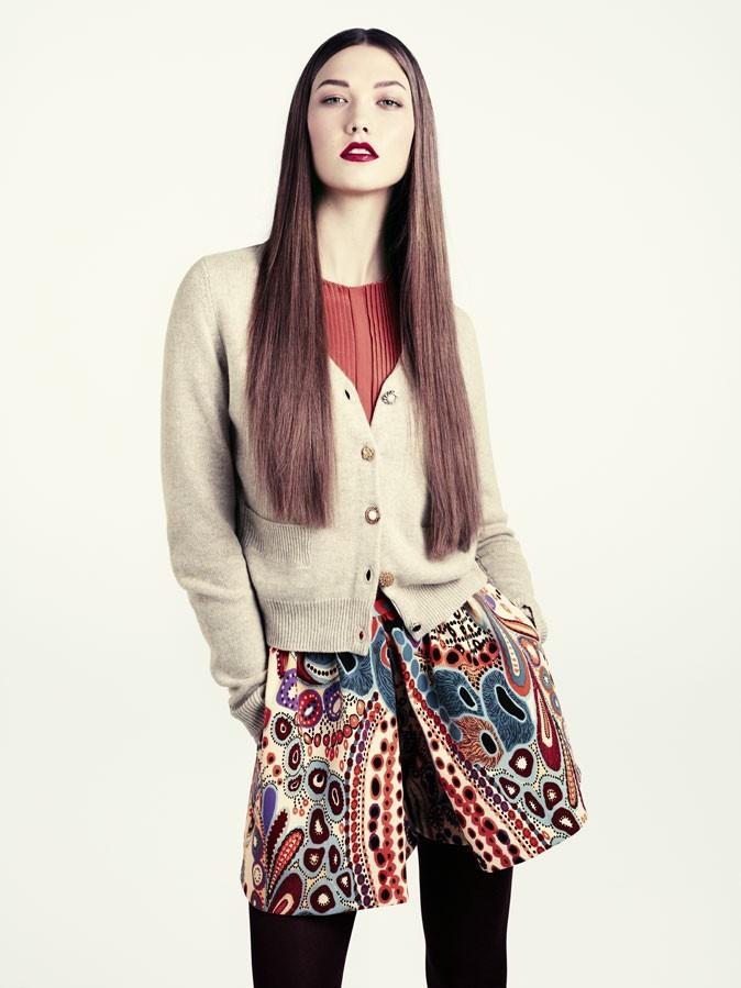 Collection hiver 2012 H&M : Avec les motifs palmettes sur le short, on adopte ce look ethnique!