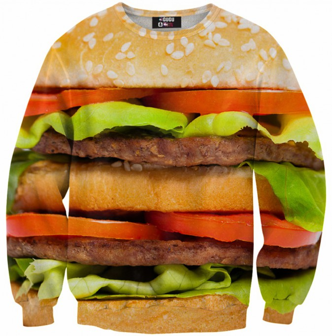 Sweat imprimé burger, sur sheinside.com 20 €