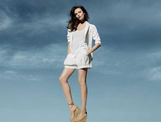 Mode : un short blanc H&M Conscious
