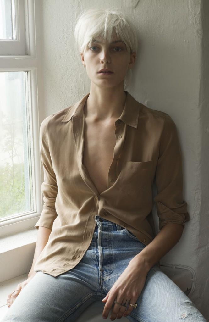 Daria Werbowy pour la collection Automne-Hiver 2014/2015 d'Equipment