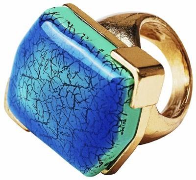 Bague pierre bleue, H&M, 4,95euros
