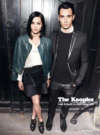 Leigh Lezark et Randy D'Amico pour la campagne automne-hiver 2012-2013 de The Kooples