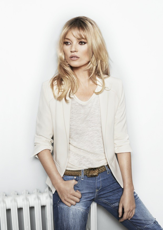 Kate Moss pour la collection printemps-été 2012 de Mango