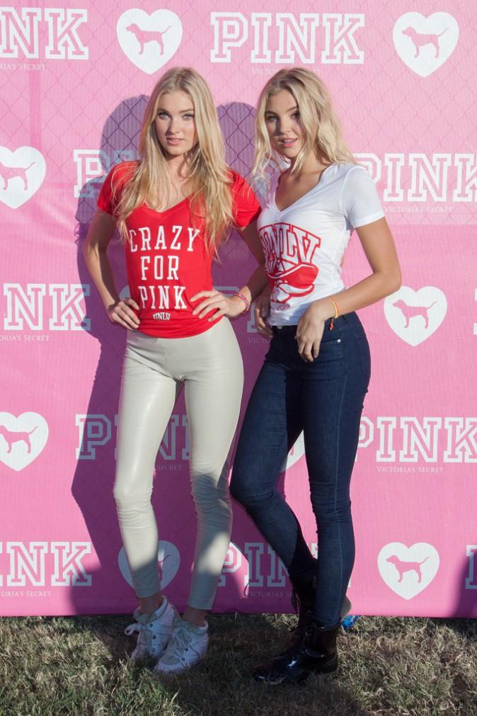 """Mode : Elsa Hosk et Rachel Hilbert : hot pour une """"Pink party"""" dans un campus !"""