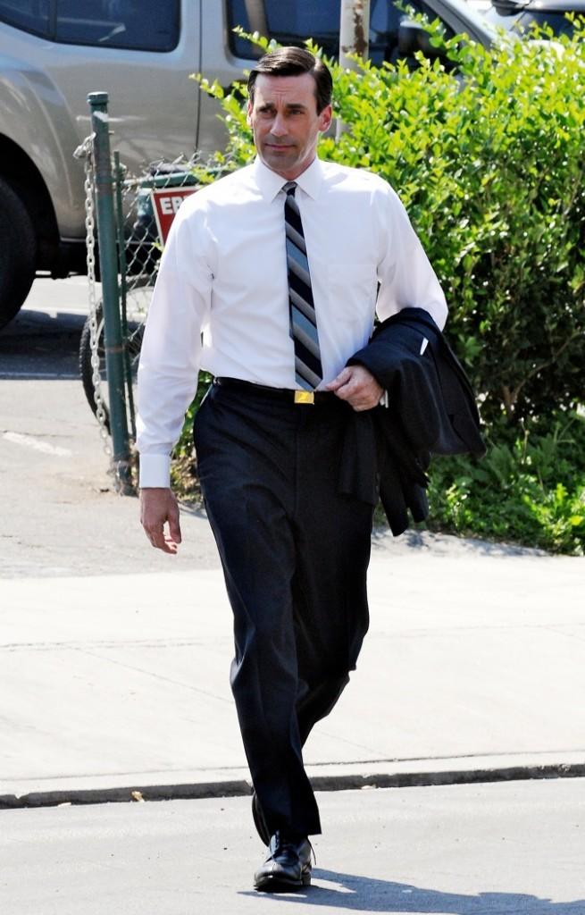 2009 : John Hamm sur le tournage de Mad Men !