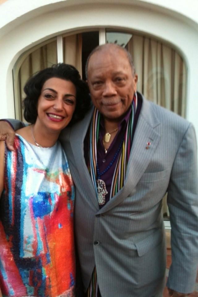 Fadia Otte et Quincy Jones