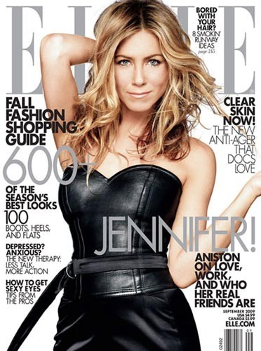 Jennifer Aniston en couverture de ELLE