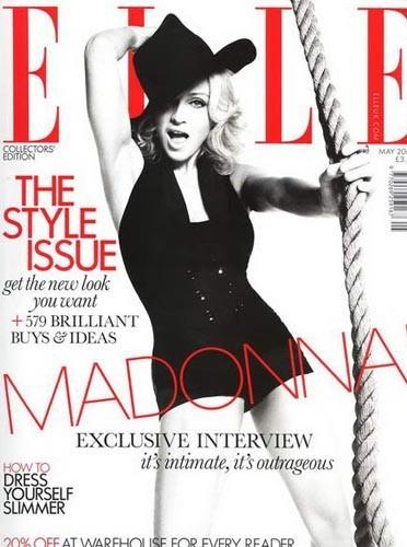 Madonna en couverture de ELLE