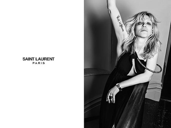 Courtney Love pour Saint Laurent Paris !