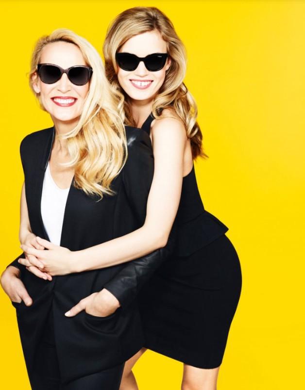Un duo spécial fête des mères pour la campagne Sunglass Hut en 2013!