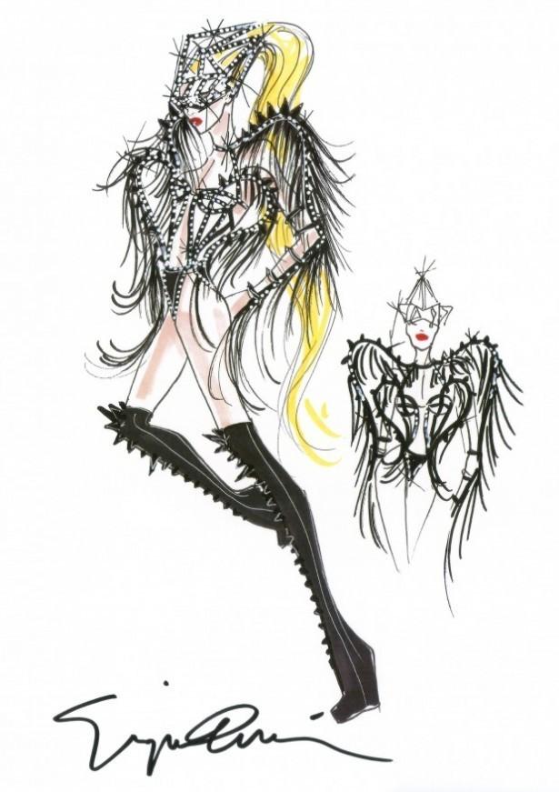 Costume de Lady Gaga by Giorgio Armani