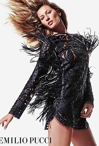 Mode : Gisele Bündchen : sexy et dans le vent pour la campagne Emilio Pucci Automne/Hiver 2014-2015 !