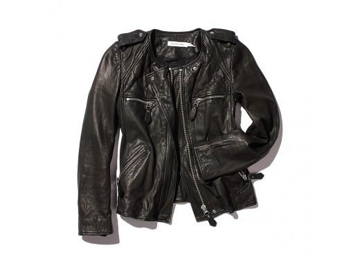 Veste en cuir noir Isabel Marant 990$