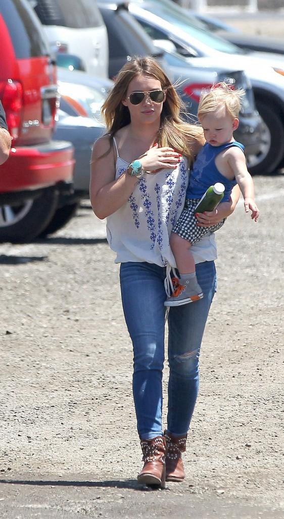 Hilary Duff et ses chaussures Isabel Marant