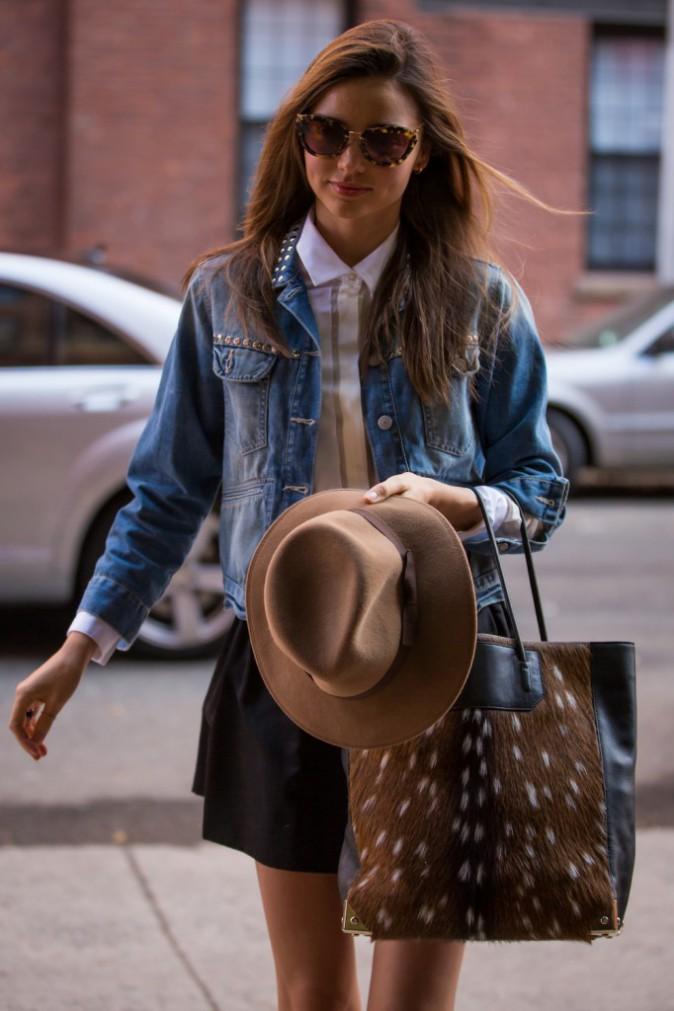 La veste en jean de Miranda Kerr signée Isabel Marant