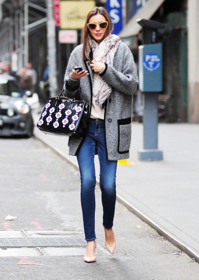 Le manteau Isabel Marant de Miranda Kerr