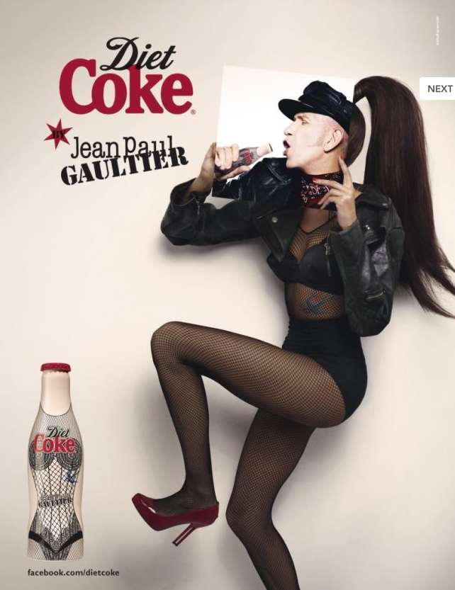 Jean Paul Gaultier pour la campagne Coca-Cola Light