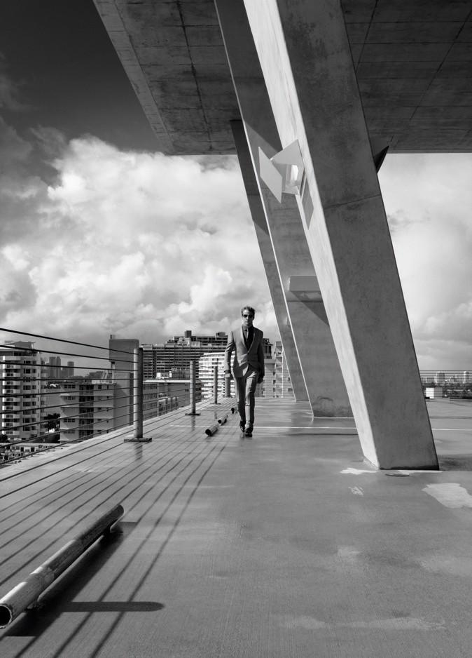 Jenson Button pour la collection printemps-été 2012 de Hugo Boss