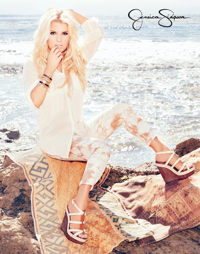 Jessica Simpson pour sa collection printemps/été 2013