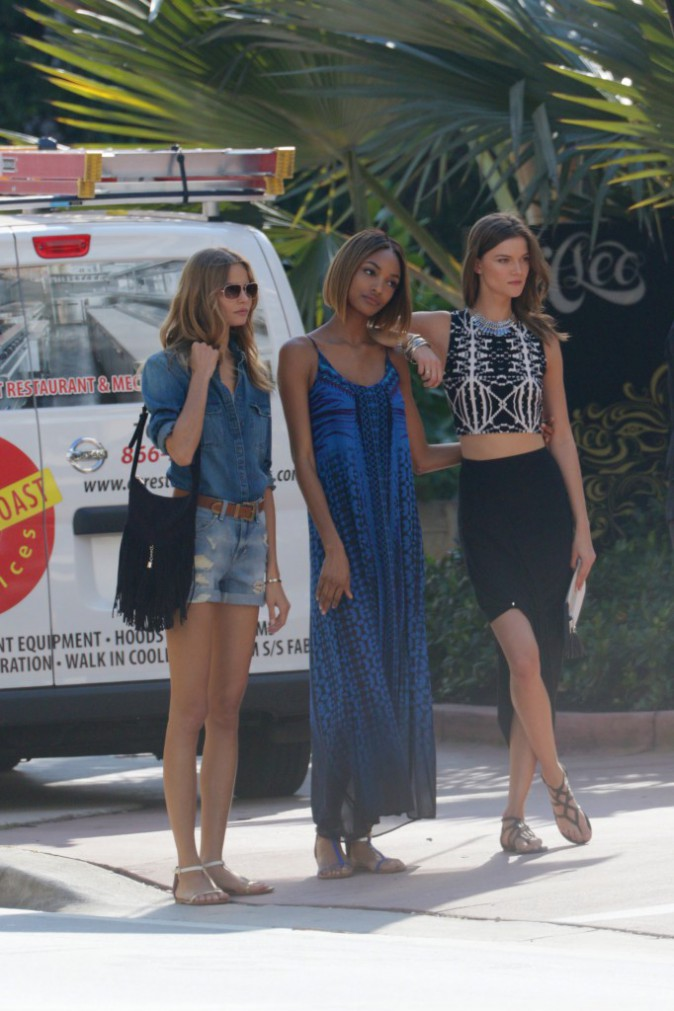 Mode : Jourdan Dunn : repérée en plein shooting photo à Miami !