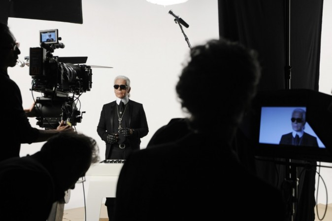 Sur le tournage de The New Mix pour la collection printemps-été 2012 de KARL by Karl Lagerfeld