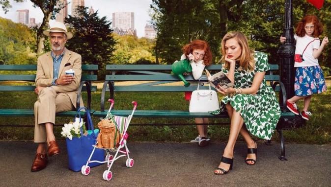 Mode : Photos : Karlie Kloss, fraîche et élégante pour un duo générationel avec Iris Apfel signé Kate Spade !