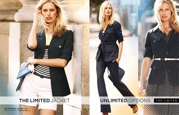 Karolina Kurkova pour la collection printemps-été 2012 de The Limited