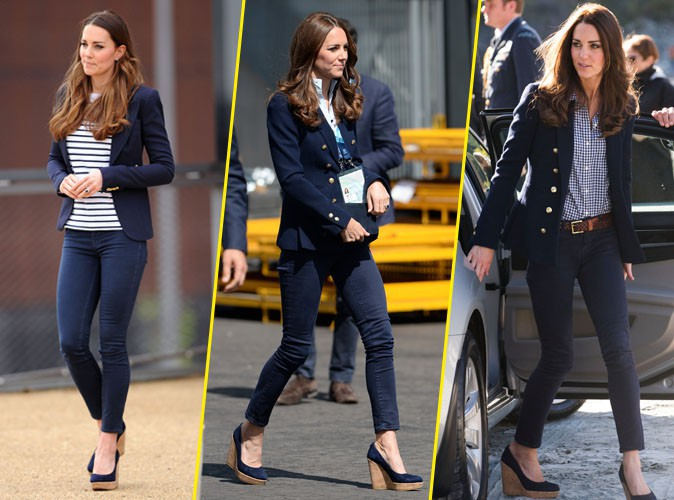 Kate Middleton : in love de son ensemble navy !