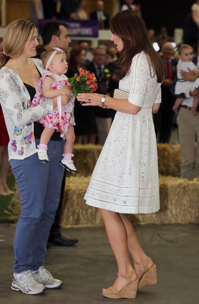 Kate Middleton lors de son voyage en Australie