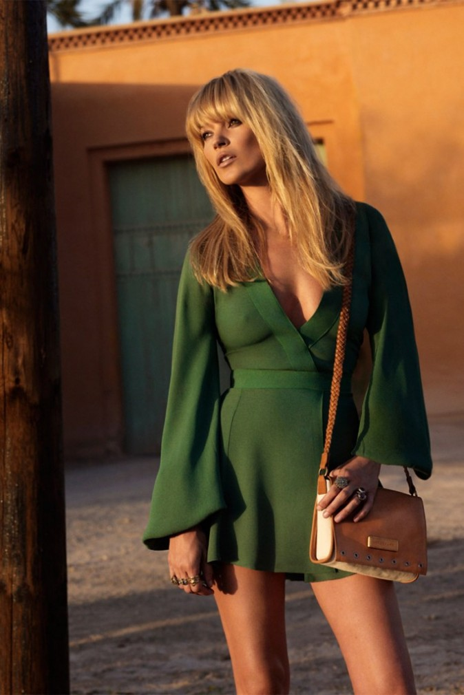 Mode : Kate Moss et un sac à main Longchamp