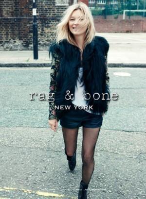 Kate Moss égérie de charme pour Rag & Bone