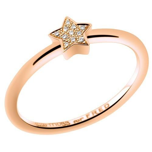 Bague étoile, or rose et diamants, Kate Moss for Fred, à partir de 510 €.