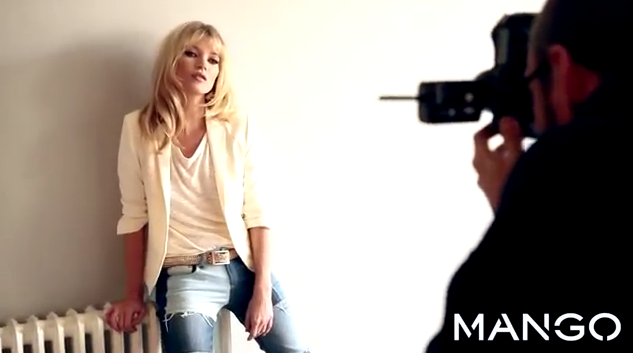 Kate Moss dans le making-of de Terry Richardson pour Mango