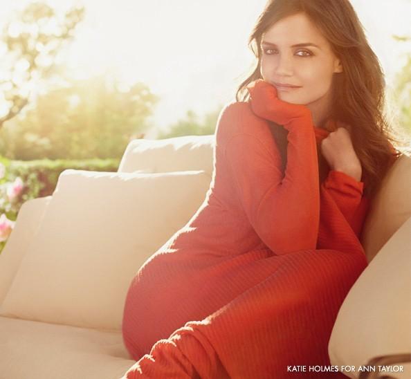 Campagne printemps/été2011 Ann Taylor: Katie Holmes en orange pétant!