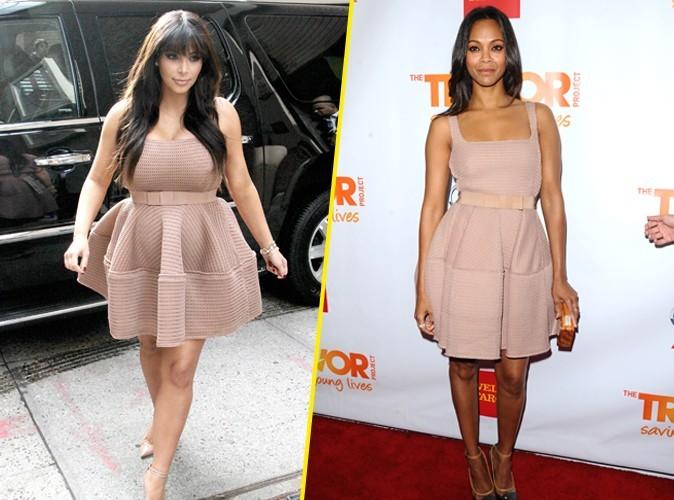 Kim Kardashian VS Zoe Saldana : Qui porte le mieux la robe Lanvin ?