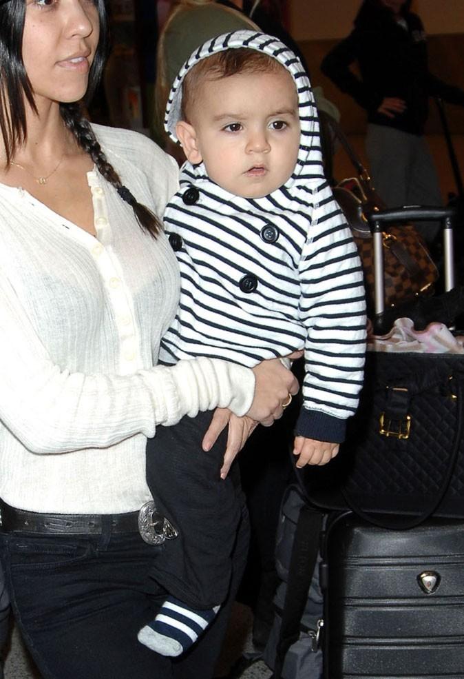 La tenue rayée de Mason Kardashian !