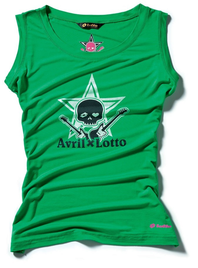 Le débardeur vert de la collection Avril Lavigne x Lotto !