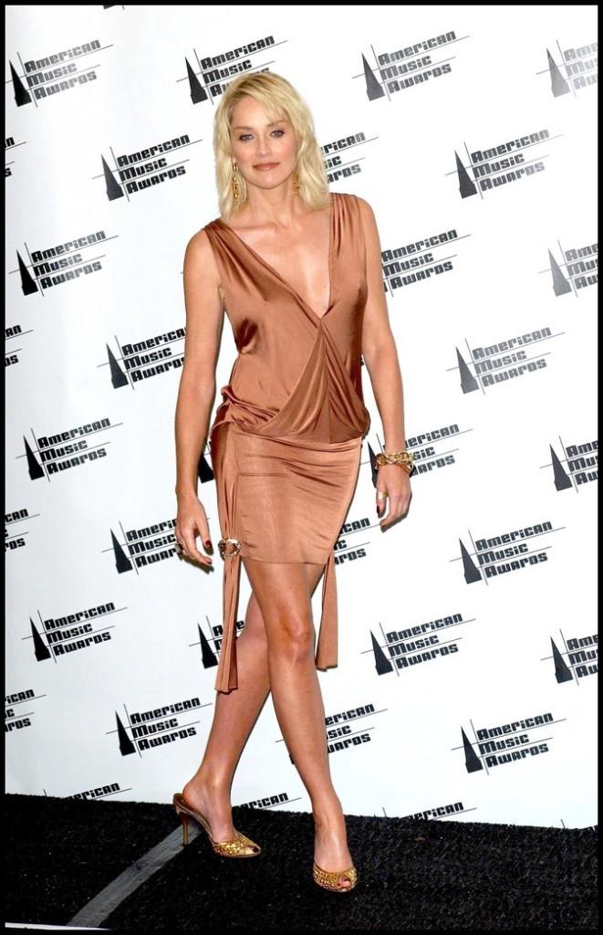 Sharon Stone à la cérémonie des American Music Awards de 2006