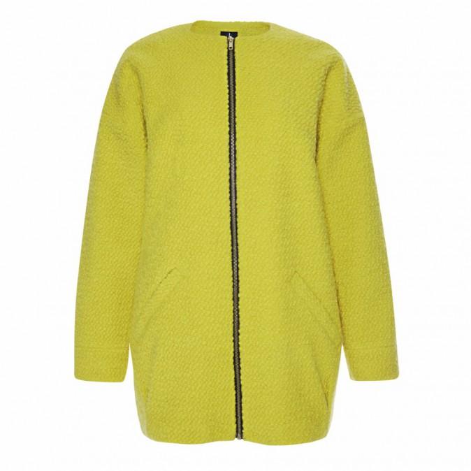 Manteau en laine et polyester zippé, Primark 30 €