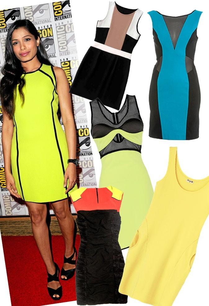 La robe sporty comme Poppy Delevingne, Freida Pinto, Becki Newton et Britney Spears
